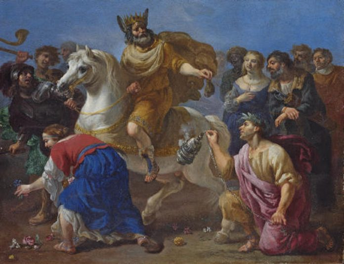 King Midas painting by Michelangelo Cerquozzi (Rome 1602-1660)