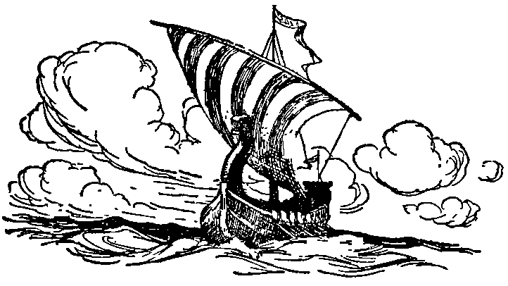 The evil brothers sail away, never to return