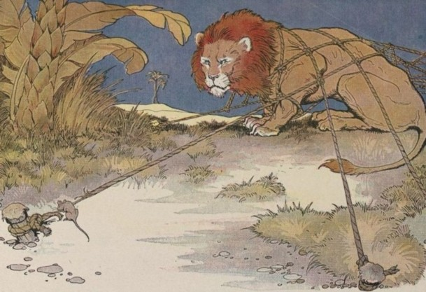 Aesop Fable: The Lion and the Mouse