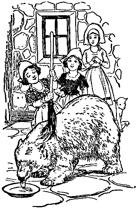 Snow White and Rose Red meet the Bear