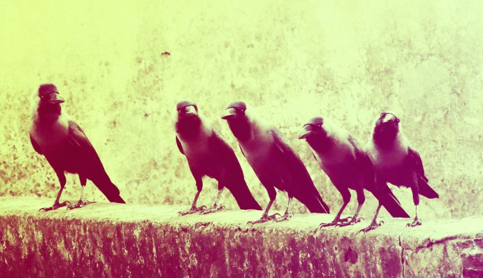 Ten Red Crows